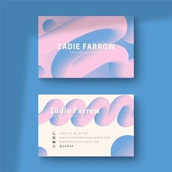 Cartão de visita conceito gradiente pastel