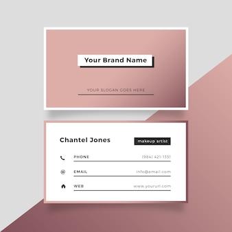 Cartão de visita cor-de-rosa elegante do ouro