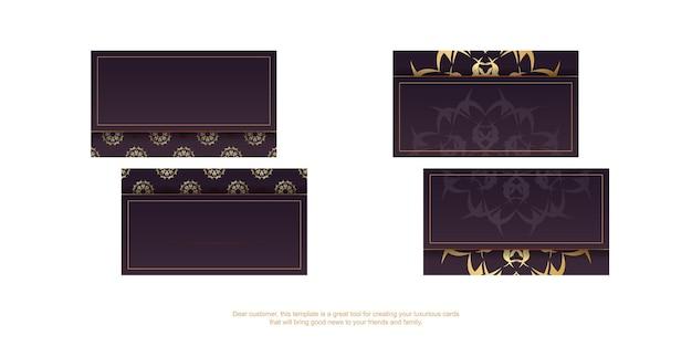 Cartão de visita cor de vinho com ornamentos de ouro grego para a sua personalidade.