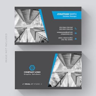 Cartão de visita corporativo elegante com foto da cidade