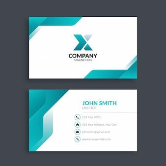 Cartão de visita corporativo moderno profissional