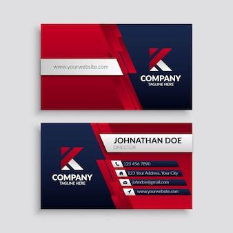 Cartão de visita corporativo vermelho moderno