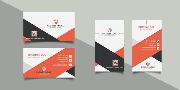 Cartão de visita corporativo