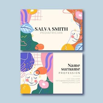 Cartão de visita criativo colorido salva do pediatra