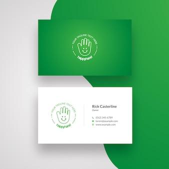 Cartão de visita criativo com acento verde