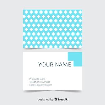 Cartão de visita criativo com conceito médico