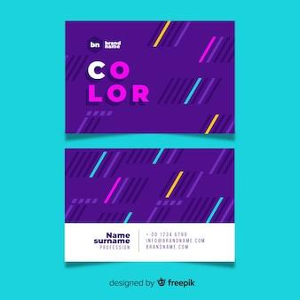 Cartão de visita criativo com linhas coloridas
