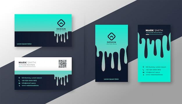 Cartão de visita criativo conjunto vertical e horizontal