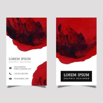 Cartão de visita criativo de aquarela splatter