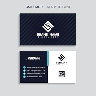 Cartão de visita criativo e profissional