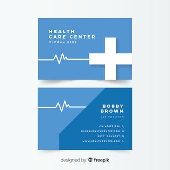 Cartão de visita criativo em estilo médico