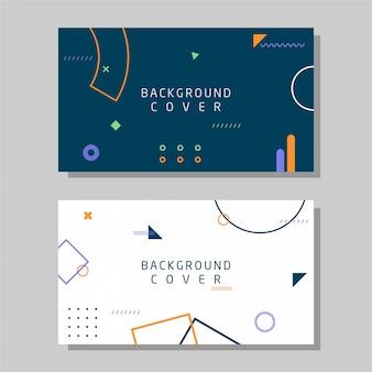 Cartão de visita criativo memphis