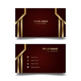 Cartão de visita criativo modelo moderno e design limpo
