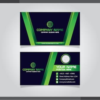 Cartão de visita criativo moderna verde e cartão de nome