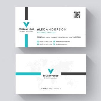 Cartão de visita criativo moderno com design profissional