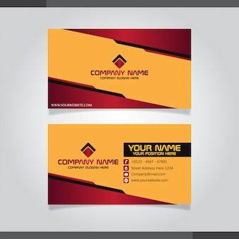 Cartão de visita criativo moderno vermelho e laranja e cartão de nome