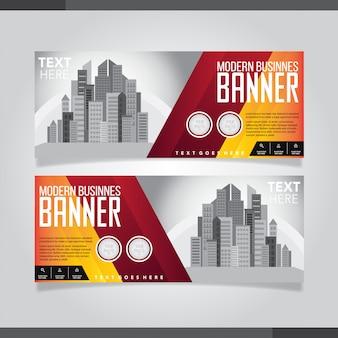 Cartão de visita criativo moderno vermelho e preto e cartão de nome
