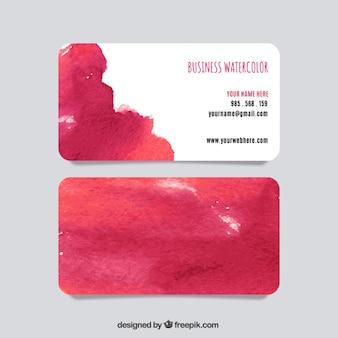 Cartão de visita da aguarela