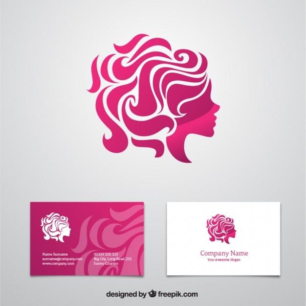 Cartão de visita da beleza