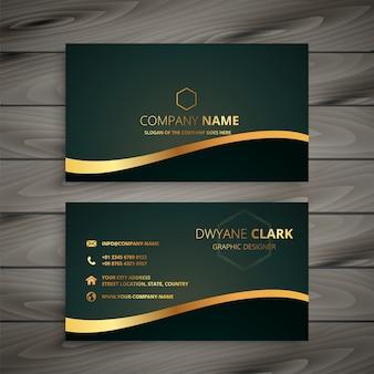 Cartão de visita da empresa dourada