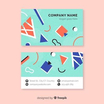 Cartão de visita da empresa memphis