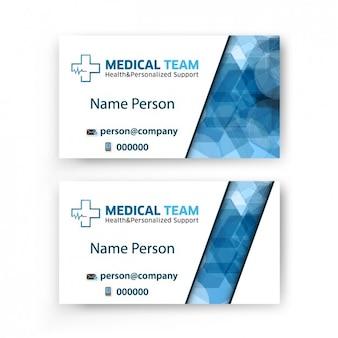 Cartão de visita da equipe médica