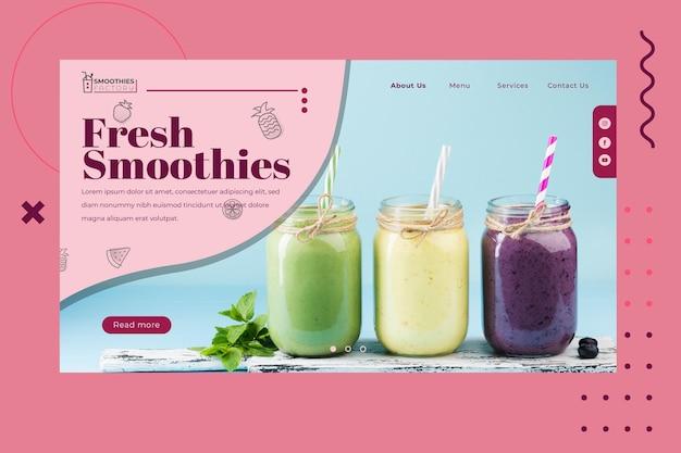 Cartão de visita da fábrica de smoothies