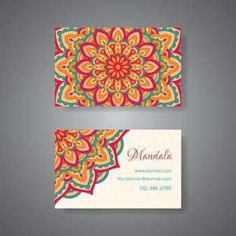 Cartão de visita da mandala