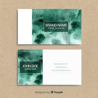 Cartão de visita da tinta