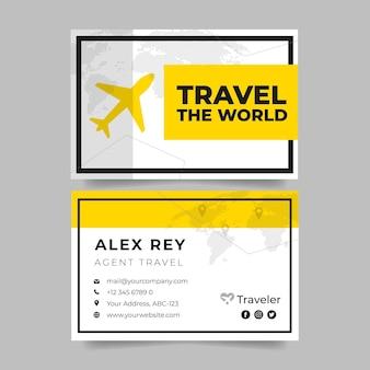 Cartão de visita de agente de viagens simples e moderno