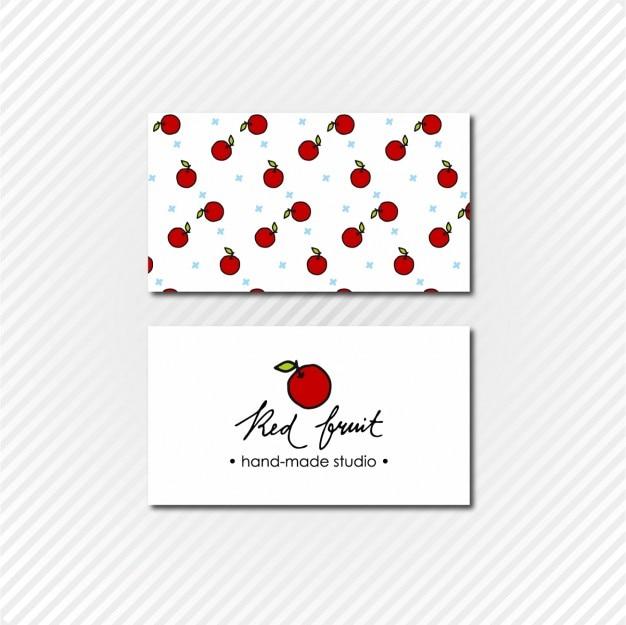 Cartão de visita de apple