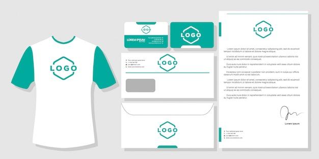 Cartão de visita de artigos de papelaria branding design modelo vector