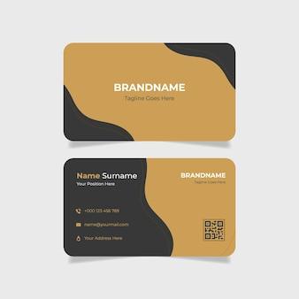 Cartão de visita de beleza com gradiente dourado