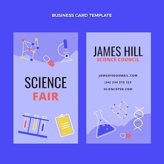 Cartão de visita de ciência de design plano