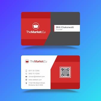 Cartão de visita de comércio eletrônico profissional e timbrado design