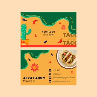 Cartão de visita de comida mexicana