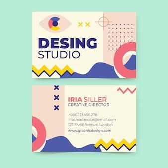 Cartão de visita de design criativo de memphis