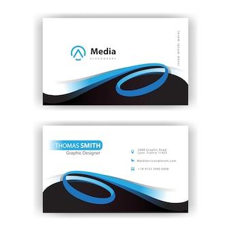 Cartão de visita de design de estilo redemoinho