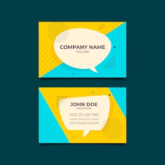Cartão de visita de design minimalista