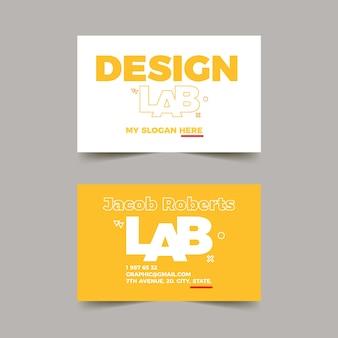 Cartão de visita de designer gráfico com modelo engraçado