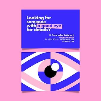 Cartão de visita de designer gráfico com olho
