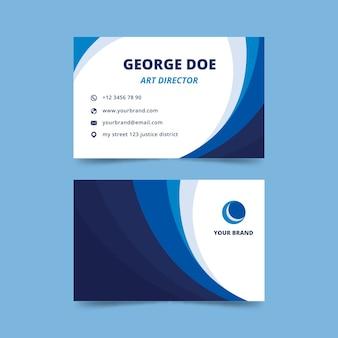 Cartão de visita de diretor de arte com design abstrato