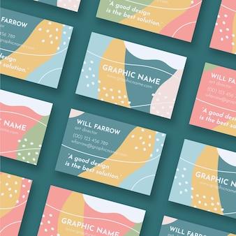 Cartão de visita de diretor de arte com design colorido