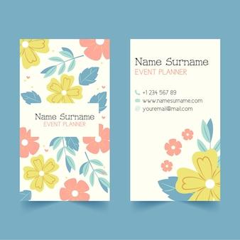 Cartão de visita de dupla face desenhado à mão