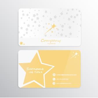Cartão de visita de estrelas