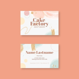 Cartão de visita de fábrica de bolos