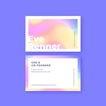 Cartão de visita de gradiente de patel