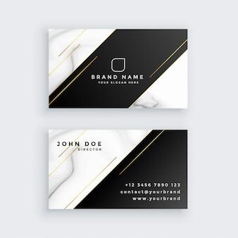 Cartão de visita de luxo com textura de mármore