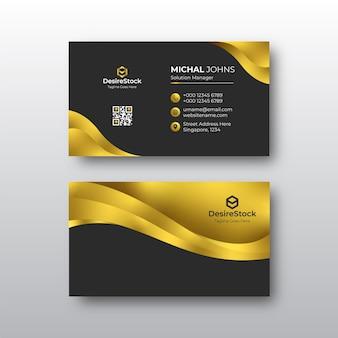 Cartão de visita de luxo dourado