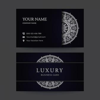 Cartão de visita de luxo mandala